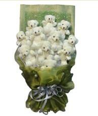11 adet pelus ayicik buketi  Kocaeli çiçek servisi , çiçekçi adresleri