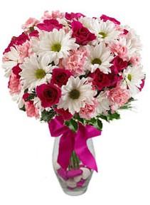 Kocaeli uluslararası çiçek gönderme  Karisik mevsim kir çiçegi vazosu