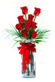 Kocaeli çiçekçiler  9 adet mika yada cam vazoda gül tanzimi