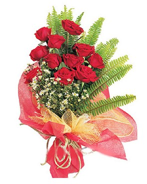 hediye çiçek yolla  11 adet kırmızı güllerden buket modeli
