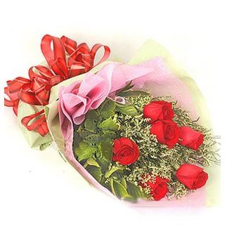 Kocaeli çiçek siparişi vermek  6 adet kırmızı gülden buket
