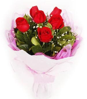 Kocaeli çiçek yolla , çiçek gönder , çiçekçi   kırmızı 6 adet gülden buket