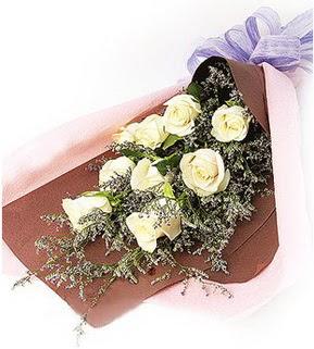 Kocaeli çiçek mağazası , çiçekçi adresleri  9 adet beyaz gülden görsel buket çiçeği