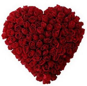 Kocaeli cicekciler , cicek siparisi  muhteşem kırmızı güllerden kalp çiçeği