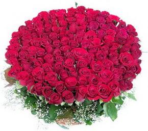 Kocaeli çiçek , çiçekçi , çiçekçilik  100 adet kırmızı gülden görsel buket