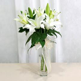 Kocaeli online çiçekçi , çiçek siparişi  2 dal kazablanka ile yapılmış vazo çiçeği