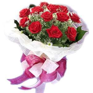 Kocaeli internetten çiçek siparişi  11 adet kırmızı güllerden buket modeli