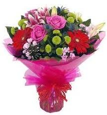 Karışık mevsim çiçekleri demeti  Kocaeli çiçek servisi , çiçekçi adresleri