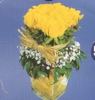 Kocaeli online çiçekçi , çiçek siparişi  Cam vazoda 9 Sari gül