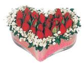 Kocaeli çiçekçiler  mika kalpte kirmizi güller 9
