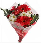 Mevsim çiçeklerinden görsel buket  Kocaeli anneler günü çiçek yolla