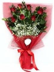 7 adet kırmızı gülden buket tanzimi  Kocaeli çiçek mağazası , çiçekçi adresleri