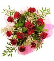12 adet kırmızı gül buketi  yurtiçi ve yurtdışı çiçek siparişi