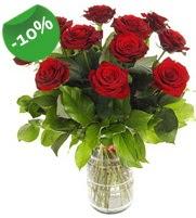 11 adet vazo içerisinde kırmızı gül  Kocaeli çiçek servisi , çiçekçi adresleri