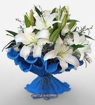 4 dal kazablanka çiçeğinden buket  Kocaeli çiçek mağazası , çiçekçi adresleri