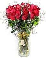 27 adet vazo içerisinde kırmızı gül  hediye çiçek yolla