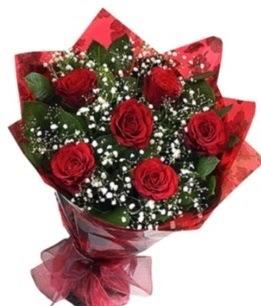 6 adet kırmızı gülden buket  Kocaeli çiçek satışı