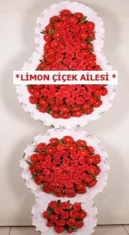 3 katlı kırmızı düğün açılış çiçeği  Kocaeli internetten çiçek satışı