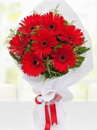 Kırmızı Gelbera Buketi  Kocaeli hediye sevgilime hediye çiçek