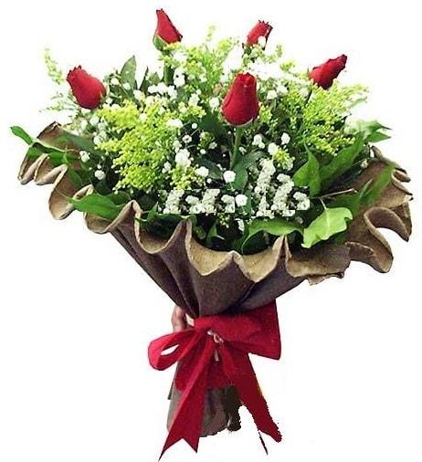 5 adet gülden buket  Kocaeli çiçekçi mağazası