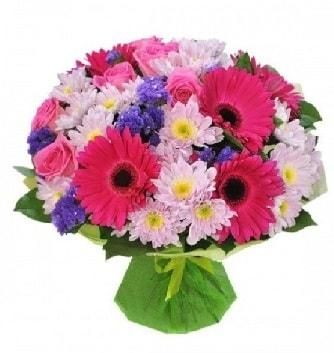 Karışık mevsim buketi mevsimsel buket  Kocaeli internetten çiçek siparişi