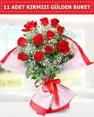 11 Adet Kırmızı Gül Buketi  Kocaeli hediye sevgilime hediye çiçek