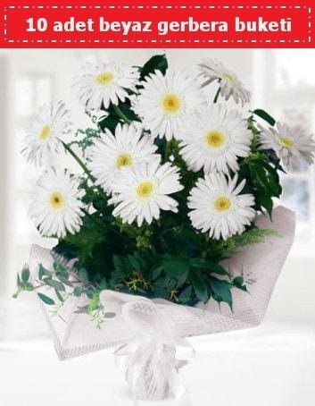 10 Adet beyaz gerbera buketi  Kocaeli çiçek siparişi vermek