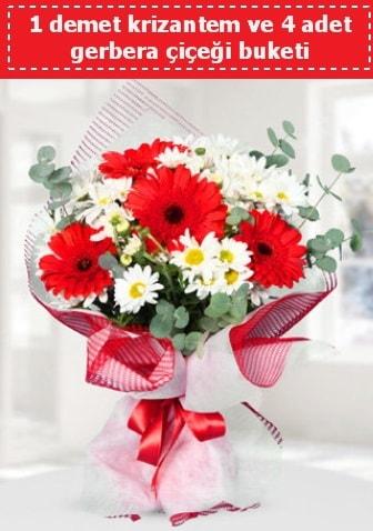 Krizantem ve Gerbera Buketi  Kocaeli uluslararası çiçek gönderme